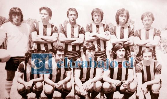 TIEMPOS DE GLORIA.- Así lucía el Deportivo Inostroza en 1979, cuando se coronó como Campeón de Campeones, en Llay Llay.