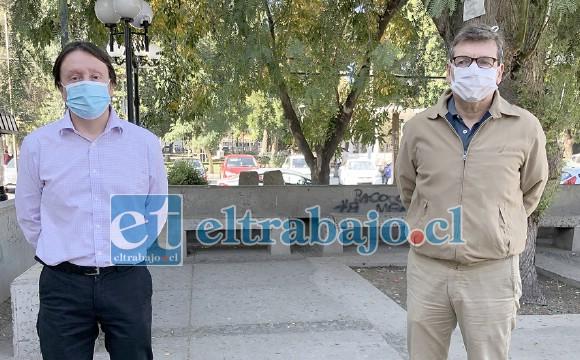 Los doctores Cristian Muñoz y Patricio Cruz en representación del Colmed Aconcagua y de la Asociación de Municipios Quinta region Cordillera, solicitaron nuevamente cuarentena total para la zona, asegurando que solo quedan dos ventiladores mecánicos en todo el valle de Aconcagua.