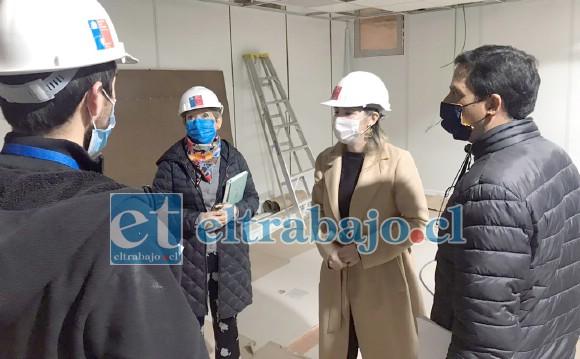 Autoridades de Salud revisaron el avance de las obras de la Unidad de Imagenología Compleja del Hospital San Camilo, corroborando que los trabajos avanzan según lo planificado.