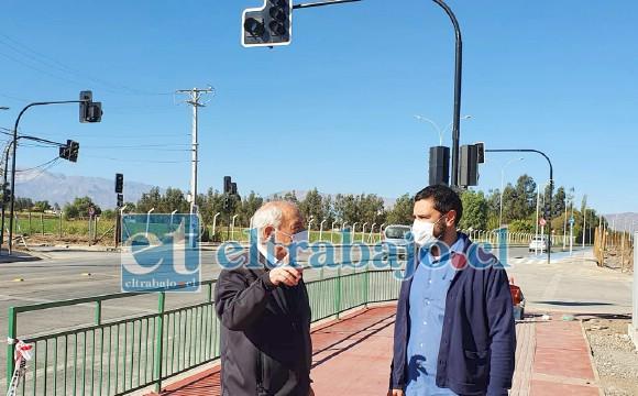 El alcalde Patricio Freire conoció los trabajos finales de habilitación de este nodo que regulará el tráfico por el sector.
