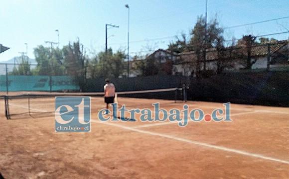 Bajo estricto protocolo de funcionamiento se reabrió el Club de Tenis Valle de Aconcagua.