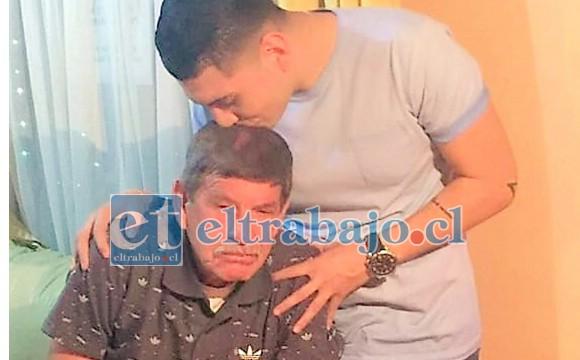 Raúl Reinoso y su hijo Ignacio, vencieron al Covid–19.
