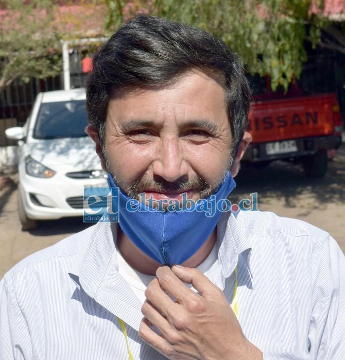 Voluntario del proyecto Migrantes, Renso Farías.