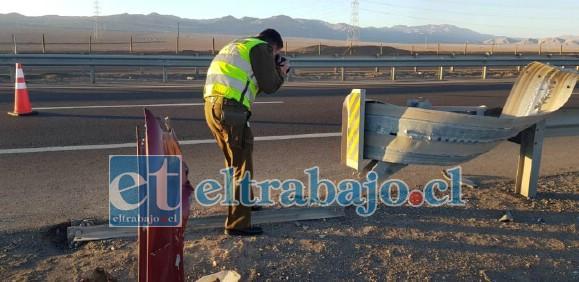 Las causas del accidente están siendo investigadas por parte de la SIAT de Carabineros de San Felipe. (Foto referencial)