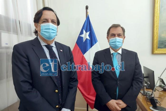 El alcalde suplente Christian Beals se reunió con el Ministro del Interior, Víctor Pérez, para plantear la idea y lograr que Juan Pinto Durán se traslade a San Felipe.