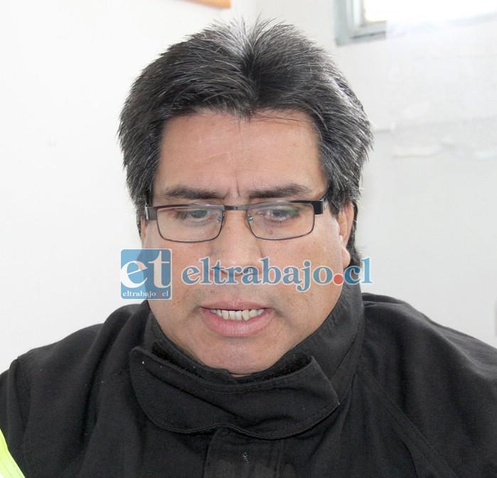 Superintendente de Bomberos de San Felipe, David Guajardo.