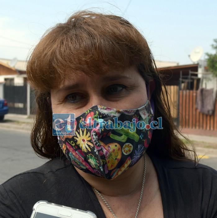Mariela Contreras, una de las vecinas atropelladas en Avenida Chile.