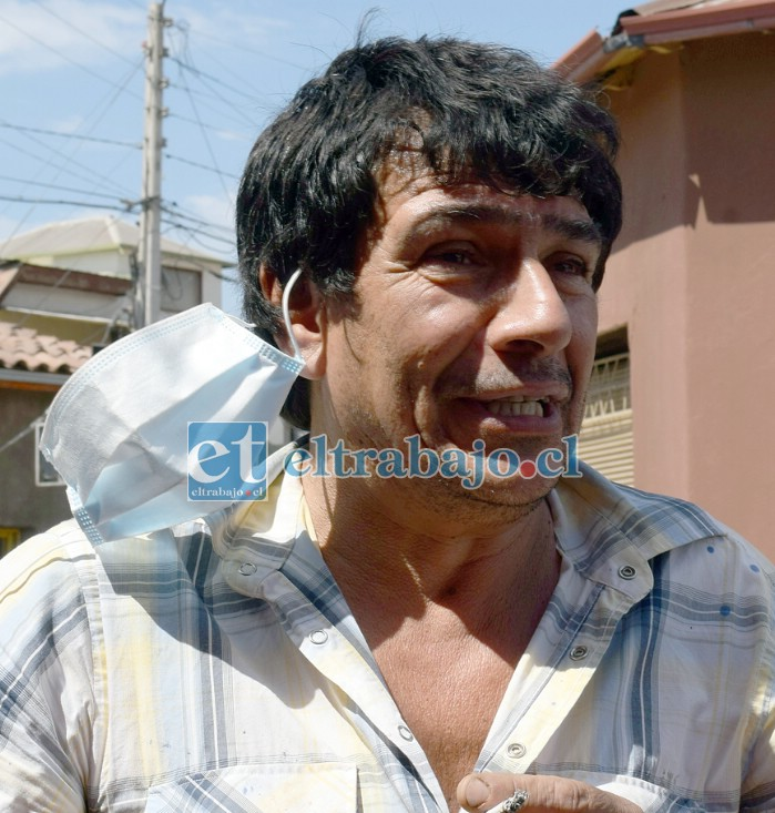 Cristian Olivares, vecino afectado por la imprudencia de un conductor.