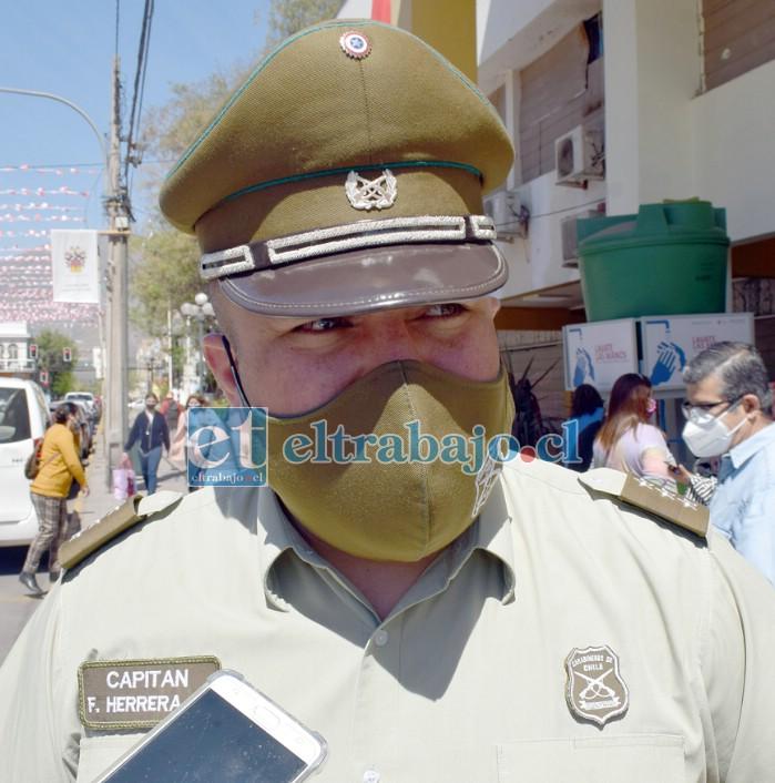 Capitán de Carabineros Franco Herrera.