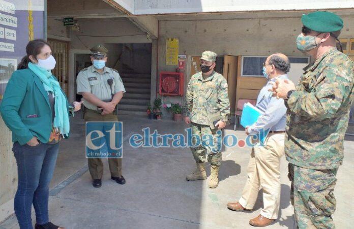 Durante la semana, el gobernador Claudio Rodríguez; en conjunto con delegado Jefena en la provincia de San Felipe, coronel Patricio Ochoa y personal de Carabineros, recorrieron los locales de votación de la comuna de Llay Llay.