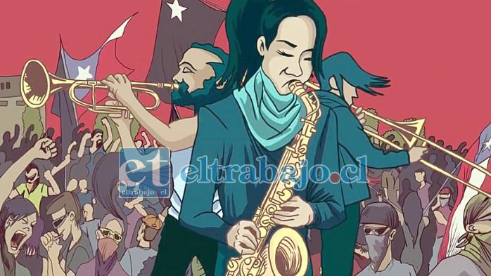EXCELENTE PRODUCCIÓN.- Los músicos también aparecen animados en esta exquisita producción musical, interactuando en las imágenes del estallido.