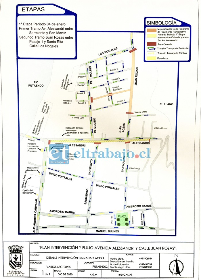 El municipio elaboró un plan de cortes de tránsito y desvíos que comenzaría de forma paulatina hasta concretarse del todo el próximo miércoles seis de enero.