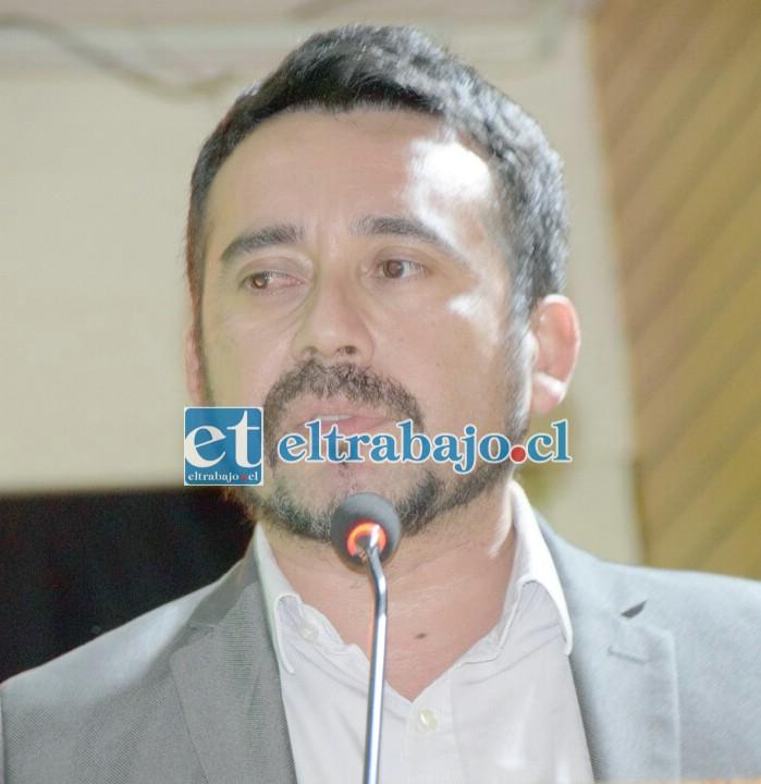 Boris Aedo, candidato a la alcaldía de San Felipe.