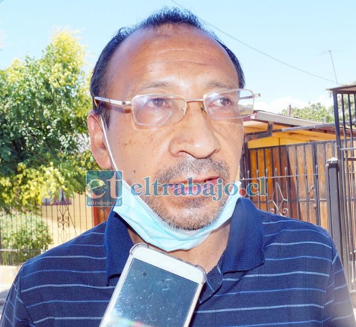 Secretario de la junta vecinal de Población Aconcagua, Nelson Chávez.