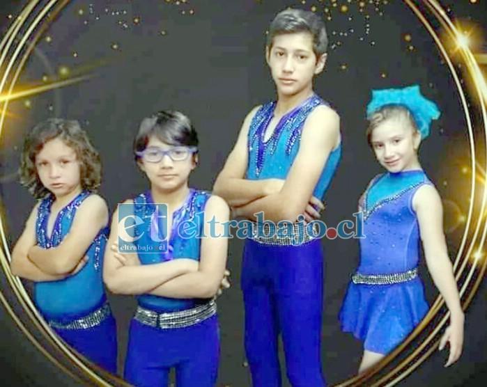 LA GRAN SORPRESA.- The Flyn Star, ellos son los trapecistas más chicos del mundo, se llaman Sheina de 9 años; Dastan con 8 años, David de 7 años y Jonathan el más grande.