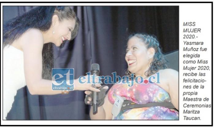 SIEMPRE LUCHANDO.- Las cámaras de Diario El Trabajo ya habían captado a Yasmara cuando en 2020 fue elegida Miss Mujer 2020.