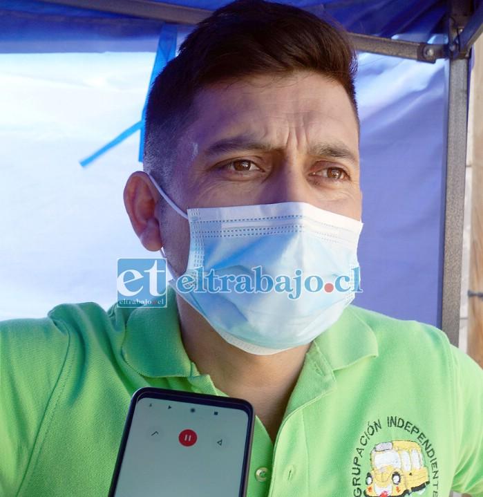 Danilo Contreras Villarreal, vocero de la Agrupación Independiente de Transporte Escolar de San Felipe.