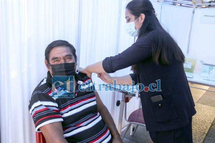 Hasta la mañana de ayer martes se había vacunado a 3.432 personas en la comuna de Putaendo.