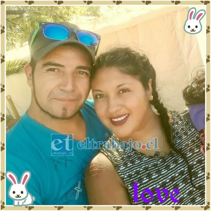 Clodomiro Contreras, imputado por femicidio, fue trasladado a la cárcel de Valparaíso por su seguridad. En la imagen cuando junto a Valeria formaban una feliz pareja.