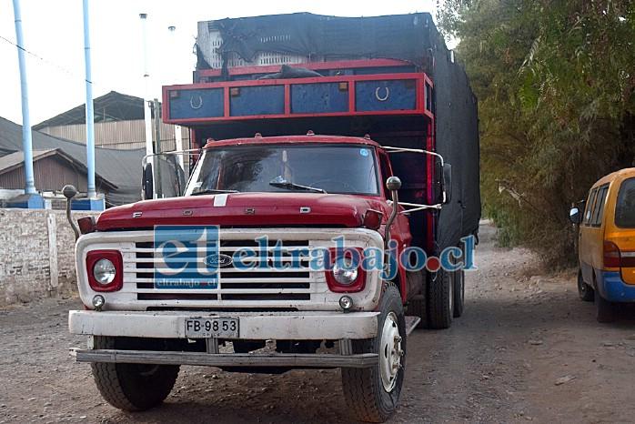 UNA MOLE.- Según algunos testigos en el lugar, este habría sido el camión que participó en la mortal colisión.